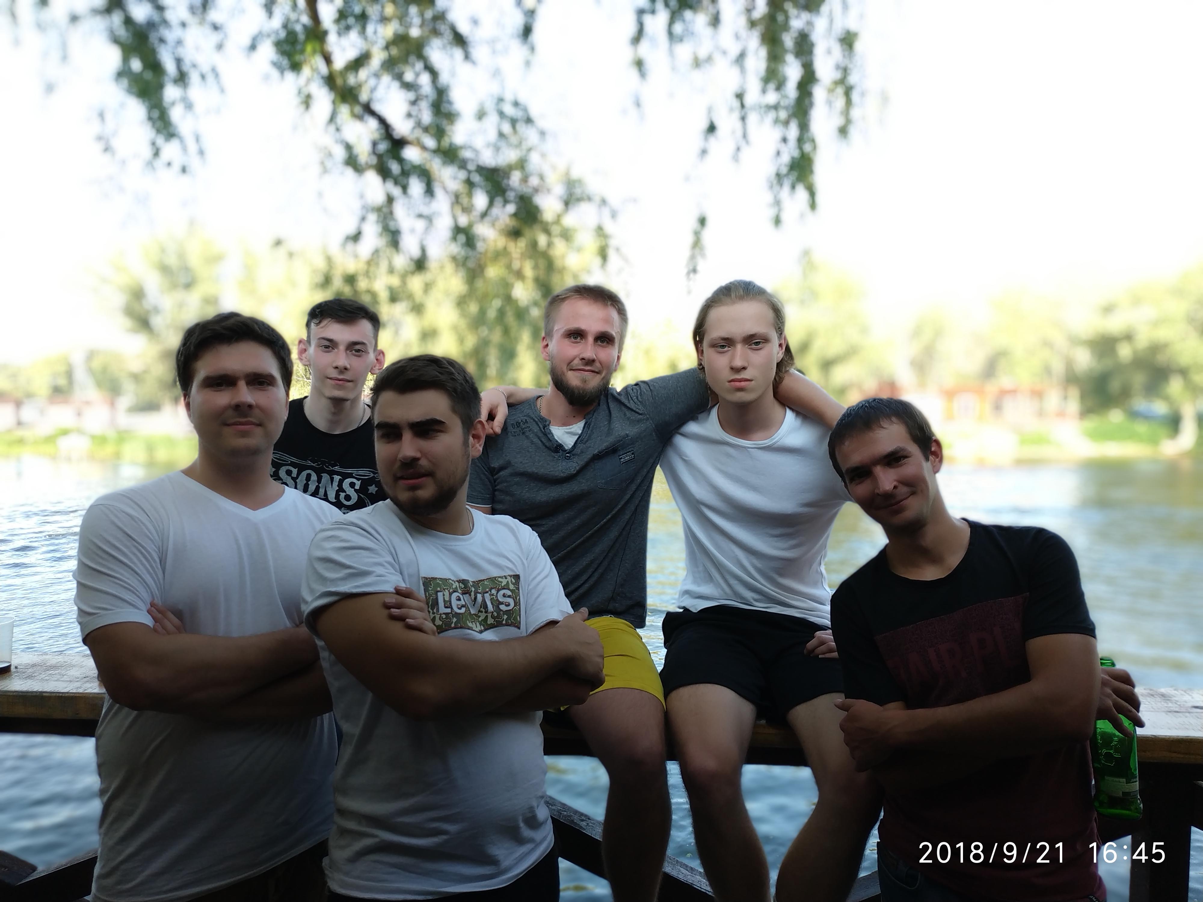 дружный коллектив, мужская часть - маркетингового рекламного агентства True Advertising Group, Киев