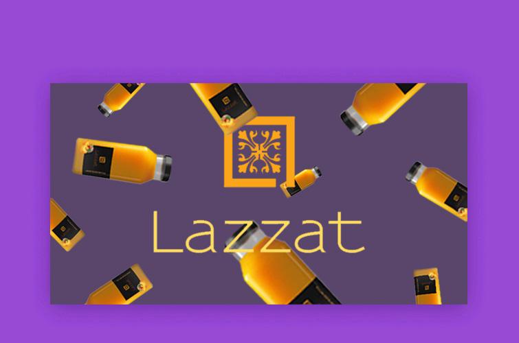 разработка логотипа и упаковки lazzat